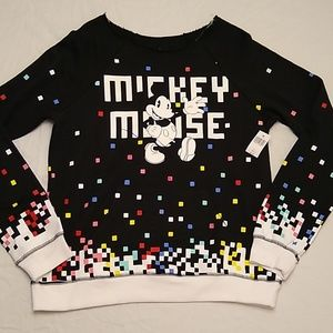 Disney Parks Mickey Mouse Sweatshirt New w/Tags L